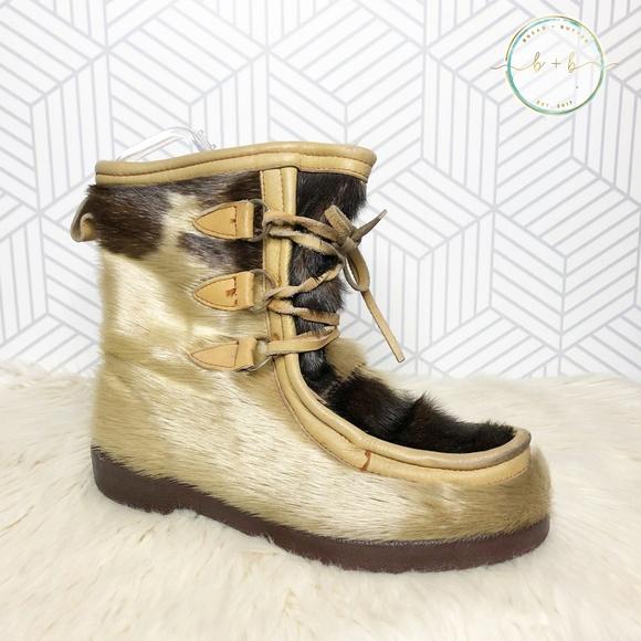 Vintage Fur Winter Snow Boots | Poshmark